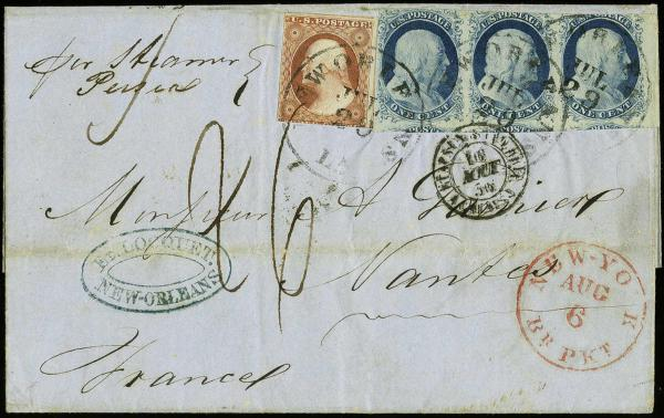 Lot 1039 - United States 19th Century Stamps and Postal History  -  H. R. Harmer Inc Sale 3031