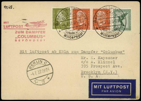Lot 2288 - United States and Foreign Airmail Covers  -  H. R. Harmer Inc Sale 3031