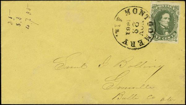 Lot 772 - Confederate States of America Postal History Confederate States General Issues -  H. R. Harmer Inc Sale 3038: The Ing. Pietro Provera Collection of United States  Stamps and Postal History Part I