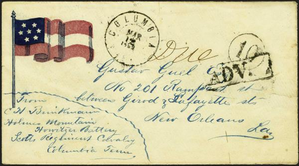 Lot 142 - Union and Confederate States Civil War Covers Confederate States Patriotic Covers -  H. R. Harmer Inc Sale 3039: The
