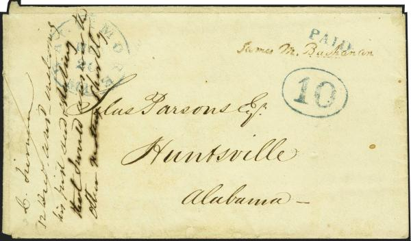 Lot 2 - United States 19th Century Stamps and Postal History Postmasters Provisionals -  H. R. Harmer Inc Sale 3039: The