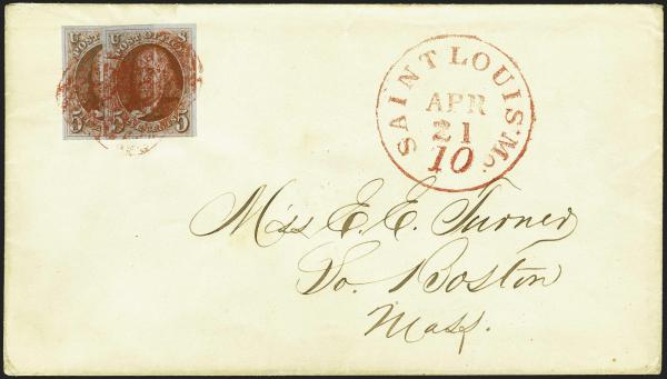 Lot 5 - United States 19th Century Stamps and Postal History 1847 Issue (1-2) -  H. R. Harmer Inc Sale 3039: The