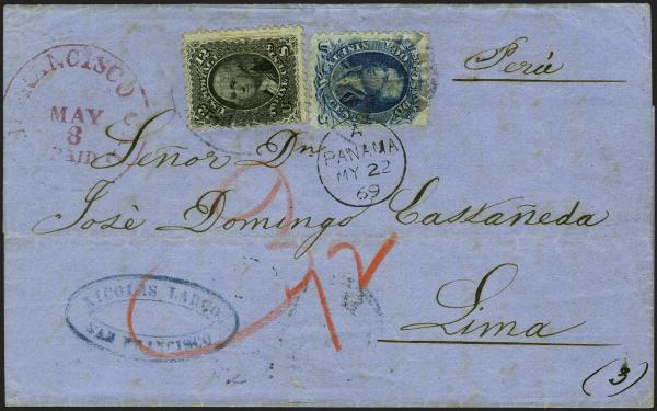 Lot 17 - United States 19th Century Stamps and Postal History 1861-66 Issue (63-78) -  H. R. Harmer Inc Sale 3039: The