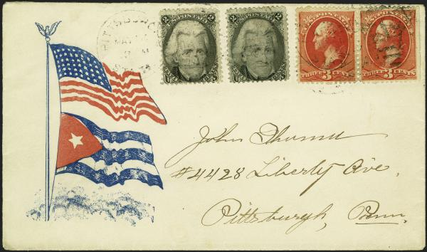 Lot 19 - United States 19th Century Stamps and Postal History 1867-68 Grilled Issues (79-101) -  H. R. Harmer Inc Sale 3039: The