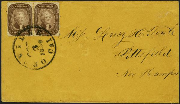 Lot 11 - United States 19th Century Stamps and Postal History 1857-61 Issue (18-39) -  H. R. Harmer Inc Sale 3039: The