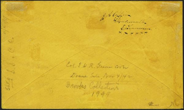 Lot 70 - Confederate States of America Postal History Confederate Postmasters Provisionals -  H. R. Harmer Inc Sale 3039: The