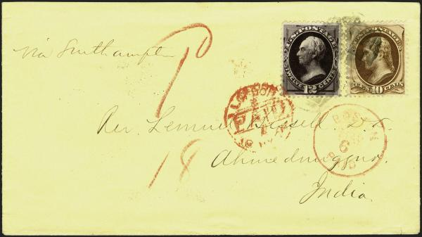 Lot 23 - United States 19th Century Stamps and Postal History 1873-75 Continental Bank Note (156-66, 178-79) -  H. R. Harmer Inc Sale 3039: The