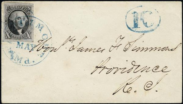 Lot 1015 - United States 19th Century Stamps and Postal History 1847 Issue (1-2) -  H. R. Harmer Inc The Ing. Pietro Provera Collection of United States Stamps and Covers Part II