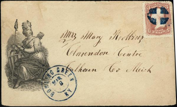Lot 3059 - united states postal history Civil War Covers - Union Illustrated Covers -  H. R. Harmer Inc United States, British Commonwealth, and Foreign Stamps, Covers, and Collections