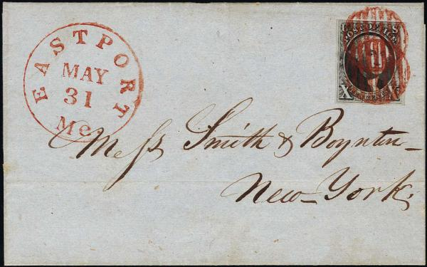 Lot 1021 - United States 19th Century Stamps and Postal History 1847 Issue (1-2) -  H. R. Harmer Inc The Ing. Pietro Provera Collection of United States Stamps and Covers Part II