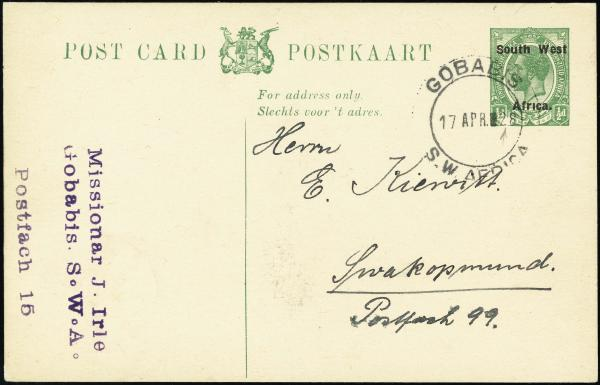 Lot 2370 - British Commonwealth Stamps and Covers south-west africa -  H. R. Harmer Inc The Dr. Larry C. Parks Collection of Postal Stationery Part I: British Commonwealth