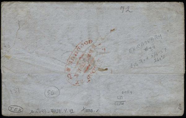 Lot 1001 - United States 19th Century Stamps and Postal History Postmasters Provisionals -  H. R. Harmer Inc The Ing. Pietro Provera Collection of United States Stamps and Covers Part II
