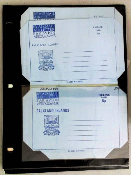Lot 2239 - British Commonwealth Stamps and Covers falkland islands -  H. R. Harmer Inc The Dr. Larry C. Parks Collection of Postal Stationery Part I: British Commonwealth