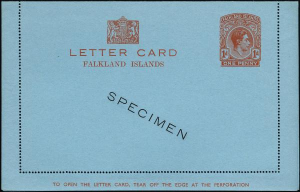 Lot 2238 - British Commonwealth Stamps and Covers falkland islands -  H. R. Harmer Inc The Dr. Larry C. Parks Collection of Postal Stationery Part I: British Commonwealth