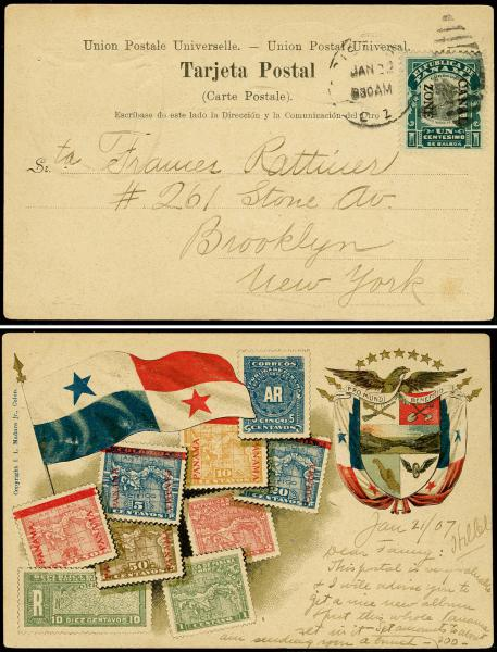 Lot 3702 - U.S. Territories, Possessions and Foreign Offices canal zone -  H. R. Harmer Inc United States, British Commonwealth, and Foreign Stamps, Covers, and Collections