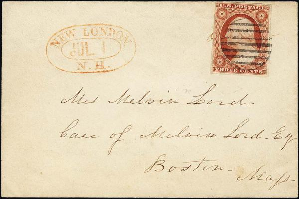 Lot 1025 - United States 19th Century Stamps and Postal History 1851-56 Issue (5-17) -  H. R. Harmer Inc The Ing. Pietro Provera Collection of United States Stamps and Covers Part II