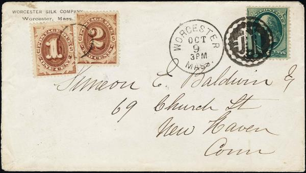 Lot 1134 - United States 19th Century Stamps and Postal History 1879 American Bank Note Soft Paper (182-191) -  H. R. Harmer Inc The Ing. Pietro Provera Collection of United States Stamps and Covers Part II