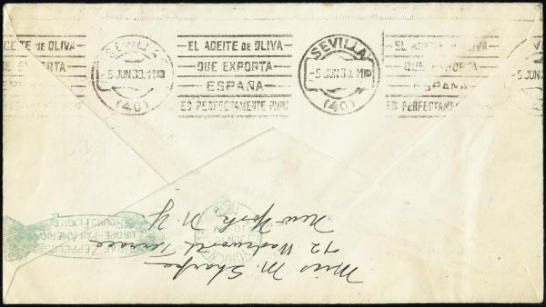 Lot 3123 - United States and Foreign Airmail Covers U.S. Zeppelin Flights -  H. R. Harmer Inc United States, British Commonwealth, and Foreign Stamps, Covers, and Collections