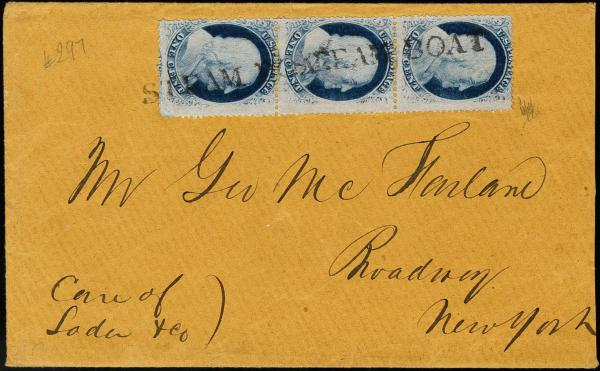 Lot 1044 - United States 19th Century Stamps and Postal History 1857-61 Issue (18-39) -  H. R. Harmer Inc The Ing. Pietro Provera Collection of United States Stamps and Covers Part II
