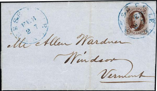 Lot 1012 - United States 19th Century Stamps and Postal History 1847 Issue (1-2) -  H. R. Harmer Inc The Ing. Pietro Provera Collection of United States Stamps and Covers Part II