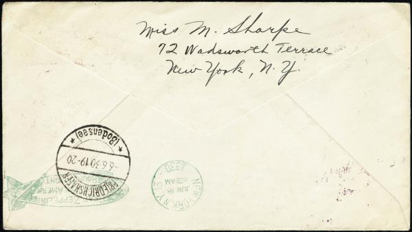 Lot 3122 - United States and Foreign Airmail Covers U.S. Zeppelin Flights -  H. R. Harmer Inc United States, British Commonwealth, and Foreign Stamps, Covers, and Collections