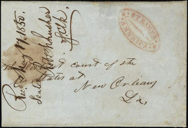 Lot 3005 - united states postal history Steam, Steamboat and Steamship Covers -  H. R. Harmer Inc United States, British Commonwealth, and Foreign Stamps, Covers, and Collections