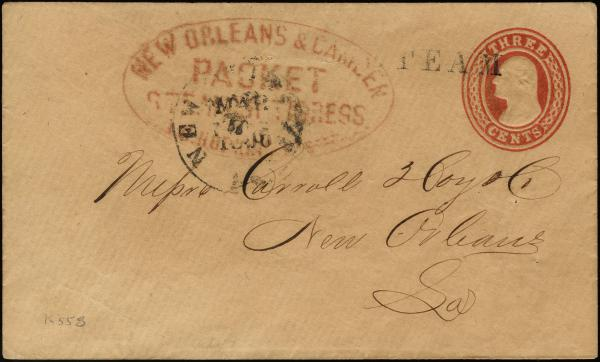Lot 3034 - united states postal history Steam, Steamboat and Steamship Covers -  H. R. Harmer Inc United States, British Commonwealth, and Foreign Stamps, Covers, and Collections
