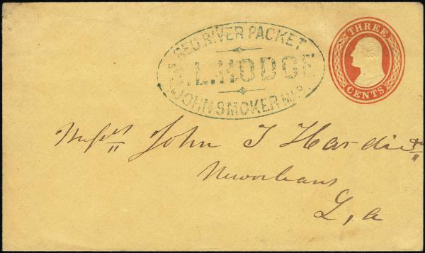 Lot 3010 - united states postal history Steam, Steamboat and Steamship Covers -  H. R. Harmer Inc United States, British Commonwealth, and Foreign Stamps, Covers, and Collections