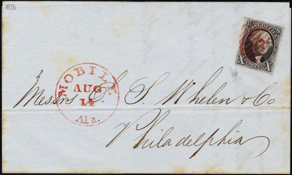 Lot 1018 - United States 19th Century Stamps and Postal History 1847 Issue (1-2) -  H. R. Harmer Inc The Ing. Pietro Provera Collection of United States Stamps and Covers Part II