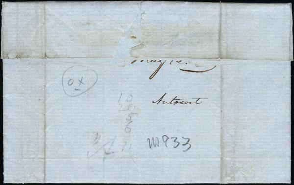 Lot 3023 - united states postal history Steam, Steamboat and Steamship Covers -  H. R. Harmer Inc United States, British Commonwealth, and Foreign Stamps, Covers, and Collections