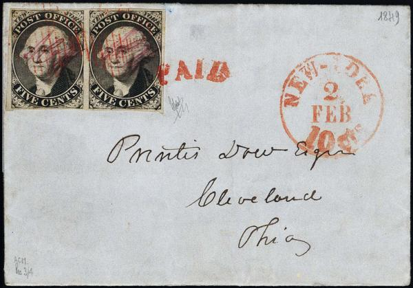 Lot 1002 - United States 19th Century Stamps and Postal History Postmasters Provisionals -  H. R. Harmer Inc The Ing. Pietro Provera Collection of United States Stamps and Covers Part II