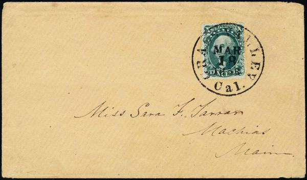 Lot 1057 - United States 19th Century Stamps and Postal History 1857-61 Issue (18-39) -  H. R. Harmer Inc The Ing. Pietro Provera Collection of United States Stamps and Covers Part II