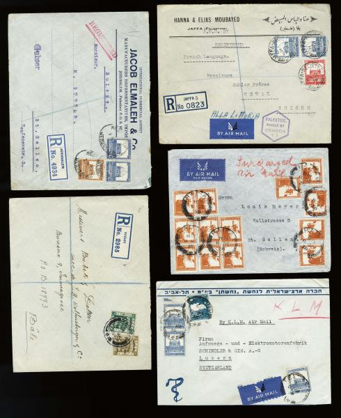 Lot 4143 - British Commonwealth Stamps and Covers palestine -  H. R. Harmer Inc United States, British Commonwealth, and Foreign Stamps, Covers, and Collections