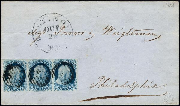 Lot 1023 - United States 19th Century Stamps and Postal History 1851-56 Issue (5-17) -  H. R. Harmer Inc The Ing. Pietro Provera Collection of United States Stamps and Covers Part II