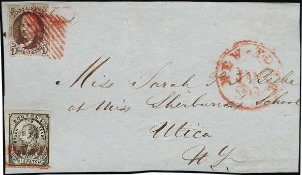 Lot 1006 - United States 19th Century Stamps and Postal History 1847 Issue (1-2) -  H. R. Harmer Inc The Ing. Pietro Provera Collection of United States Stamps and Covers Part II