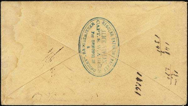Lot 3004 - united states postal history Steam, Steamboat and Steamship Covers -  H. R. Harmer Inc United States, British Commonwealth, and Foreign Stamps, Covers, and Collections