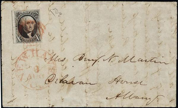 Lot 1019 - United States 19th Century Stamps and Postal History 1847 Issue (1-2) -  H. R. Harmer Inc The Ing. Pietro Provera Collection of United States Stamps and Covers Part II