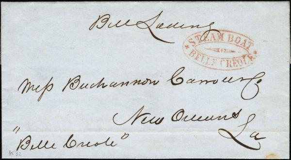 Lot 3009 - united states postal history Steam, Steamboat and Steamship Covers -  H. R. Harmer Inc United States, British Commonwealth, and Foreign Stamps, Covers, and Collections