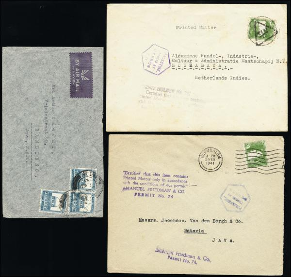 Lot 4204 - British Commonwealth Stamps and Covers palestine -  H. R. Harmer Inc United States, British Commonwealth, and Foreign Stamps, Covers, and Collections