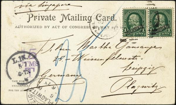 Lot 3720 - U.S. Territories, Possessions and Foreign Offices Philippines -  H. R. Harmer Inc United States, British Commonwealth, and Foreign Stamps, Covers, and Collections