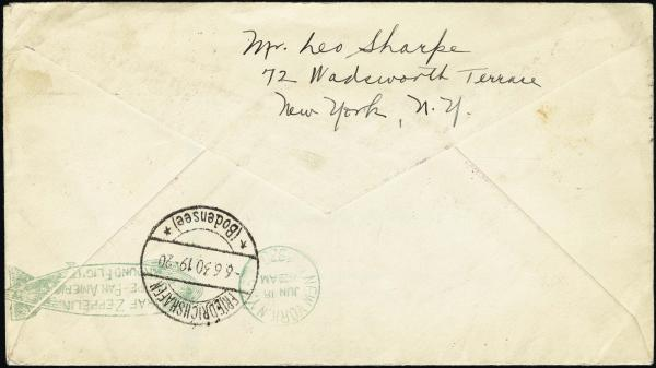Lot 3124 - United States and Foreign Airmail Covers U.S. Zeppelin Flights -  H. R. Harmer Inc United States, British Commonwealth, and Foreign Stamps, Covers, and Collections