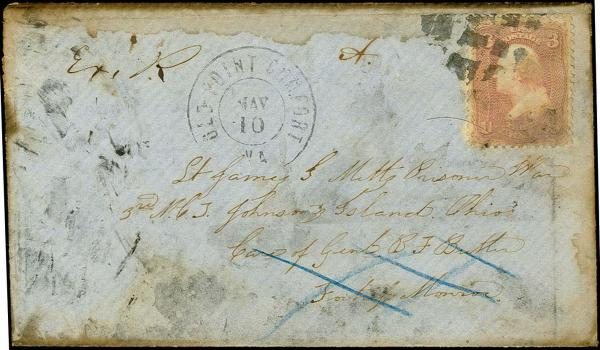 Lot 3090 - united states postal history Civil War Covers - Union Flag of Truce Mail -  H. R. Harmer Inc United States, British Commonwealth, and Foreign Stamps, Covers, and Collections