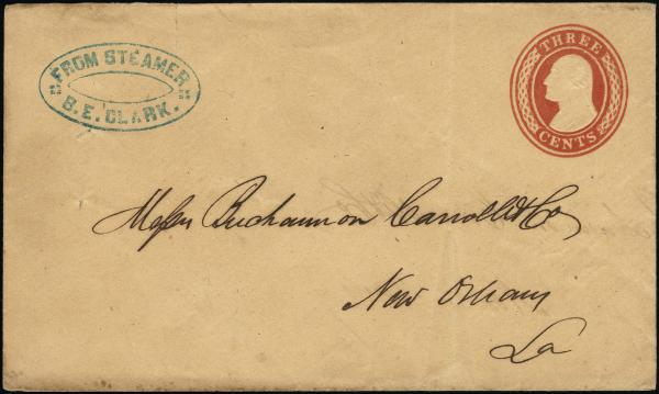 Lot 3008 - united states postal history Steam, Steamboat and Steamship Covers -  H. R. Harmer Inc United States, British Commonwealth, and Foreign Stamps, Covers, and Collections