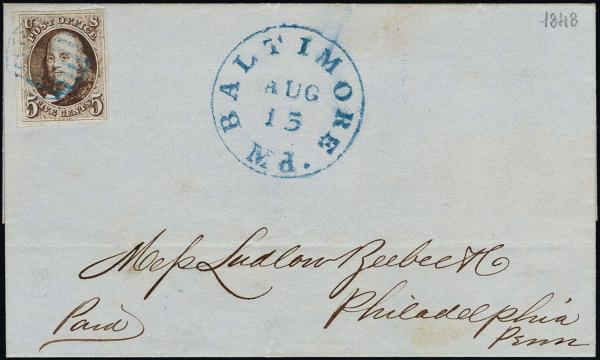 Lot 1009 - United States 19th Century Stamps and Postal History 1847 Issue (1-2) -  H. R. Harmer Inc The Ing. Pietro Provera Collection of United States Stamps and Covers Part II