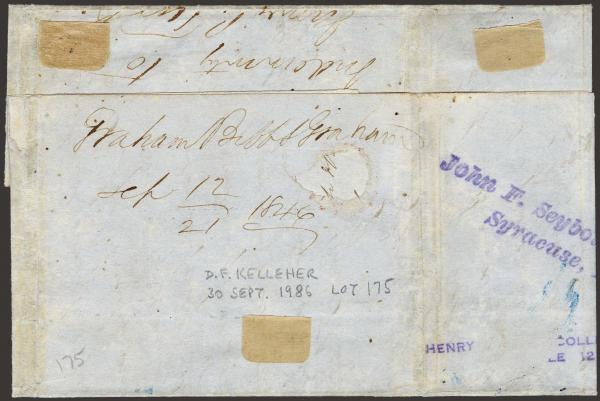 Lot 3 - United States 19th Century Stamps and Postal History Postmasters Provisionals -  H. R. Harmer Inc The