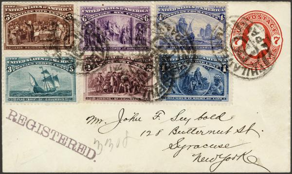 Lot 20 - United States 19th Century Stamps and Postal History 1893 Columbian Exposition Issue (230-245) -  H. R. Harmer Inc The