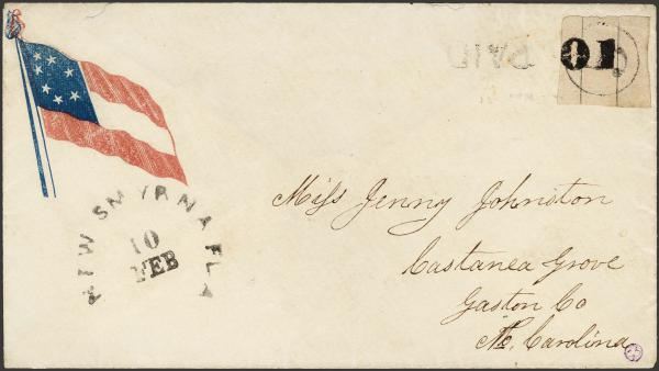 Lot 77 - Confederate States of America Postal History Confederate Postmasters Provisionals -  H. R. Harmer Inc The