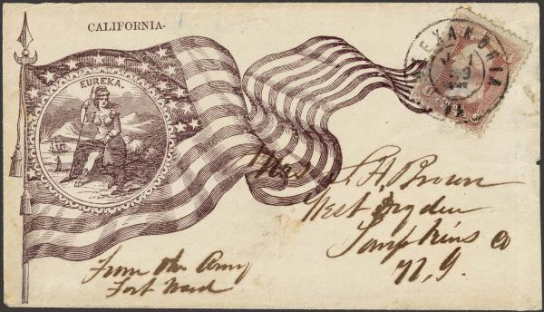 Lot 115 - united states postal history Civil War Covers - Union Patriotic Covers -  H. R. Harmer Inc The