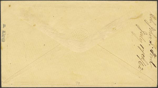 Lot 64 - Confederate States of America Postal History Confederate Postmasters Provisionals -  H. R. Harmer Inc The