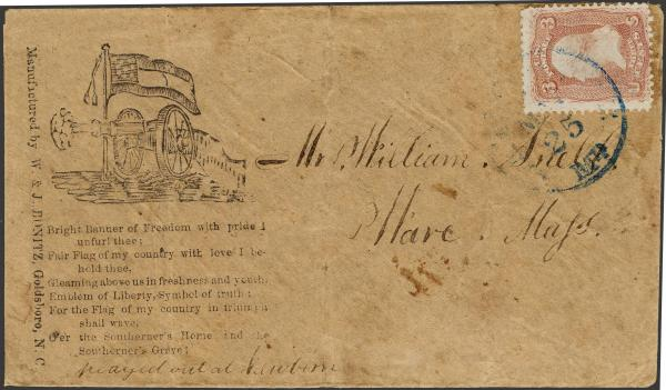 Lot 136 - Union and Confederate States Civil War Covers Confederate States Patriotic Covers -  H. R. Harmer Inc The